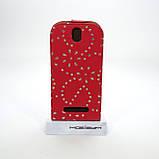 Чехол-флип Элит Стразы HTC One SV, фото 2