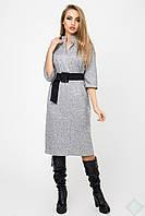 Повседневное платье женское Нинель ангора 44-50 размера серое
