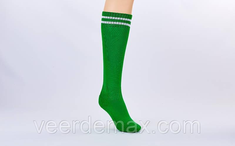 Гетры футбольные детские размер цвет-зеленый