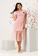 Платье женское трикотажное с сеткой 3433, фото 1