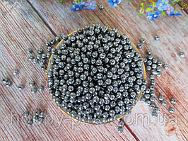 Жемчуг искусственный, 6 мм, цвет серый, 10 грамм, (~100 шт).