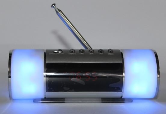 Портативная колонка FM Часы USB MP3