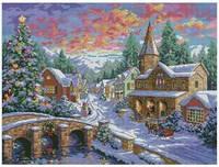 Рождественская деревня Набор для вышивки крестом
