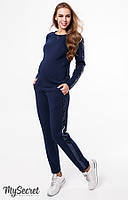 Модный теплый костюм для беременных и кормящих RYAN, синий