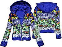Женская трендовая курточка с цветами