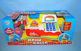 """Игровой кассовый аппарат 7162 """"Мини касса"""" на батарейках, микрофон, весы, калькулятор"""