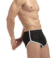 Трусы мужские Чёрные шорты сетка Размер M (обхват талии 62-72 см) K02.1