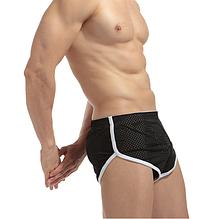Трусы мужские Чёрные шорты сетка Размер L (обхват талии 72-82 см) K02.2