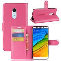 Чехол Xiaomi Redmi 5 Plus 5.99'' книжка PU-Кожа розовый