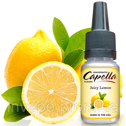 Ароматизатор Capella Juicy Lemon (Сочный Лимон) 5мл, фото 2