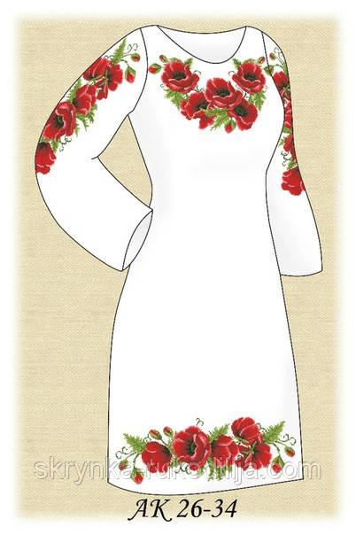 """Заготовка плаття для вишивки """"Маковий розмай"""""""