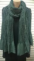 трикотажный  шарф выпуклого  плетения