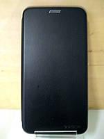 Чехол книжка под кожу черный Huawei Nova 2s