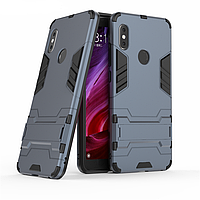 Чехол Xiaomi Redmi Note 5 / Note 5 Global / Note 5 Pro Hybrid Armored Case темно-синий