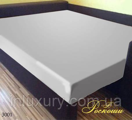 Простынь на резинке Белая 160х190х20, фото 2