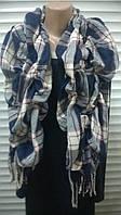 жатый шарф  в клетку