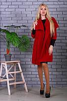 Женское кашемировое пальто с пояском