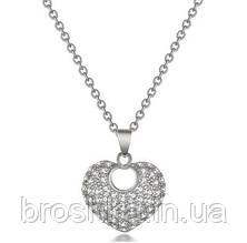 Кулон сердце с цепочкой ювелирная бижутерия