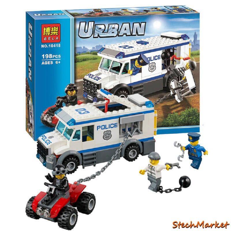 Конструктор urban Автомобиль для перевозки заключенных BELA 198 деталей
