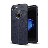 Чехол Apple Iphone 8 силикон Original Auto Focus Soft Touch темно-синий