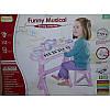 Детское пианино-синтезатор HY682-E на ножках со стульчиком и микрофоном 2 цвета, фото 2
