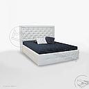 Кровать мягкая 160х200 Франко подъемная с каркасом Миро-Марк, фото 3