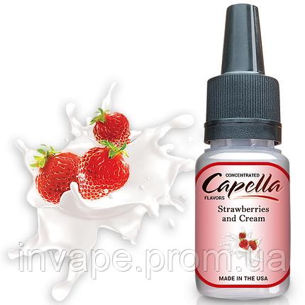 Ароматизатор Capella Strawberries and Cream (Клубника со сливками) 5мл, фото 2