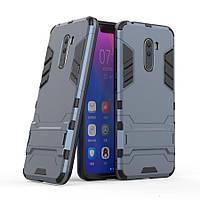 Чехол для Xiaomi Pocophone F1 Hybrid Armored Case темно-синий