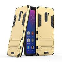 Чехол для Xiaomi Pocophone F1 Hybrid Armored Case золотой