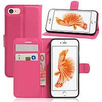Чехол Apple Iphone 8 книжка PU-Кожа розовый