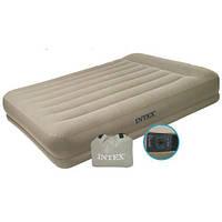 Надувной велюровый матрас кровать Intex 67748