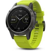 Смарт-часы Garmin Fenix 5 Slate Gray with Yellow Band (010-01688- 16fcaf529d017