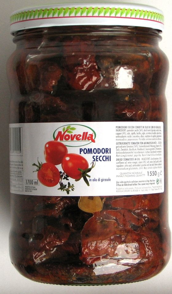 Вяленые помидоры в масле Pomodori secchi Novella, 1,55 кг.