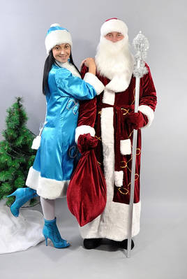 Новогодние костюмы деда мороза и снегурочки