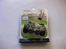 2.4GHz Wireless Dual Shock Gamepad  беспроводной геймпад для компьютера EW - 800, фото 2
