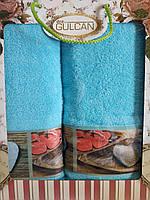 Набор махровых полотенец  2 ШТ. - 50*90 - 70*140 - 100% ХЛОПОК