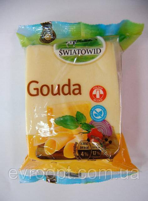 Сыр гауда твердый Swiatowid GOUDA  400 г. Польша., фото 1