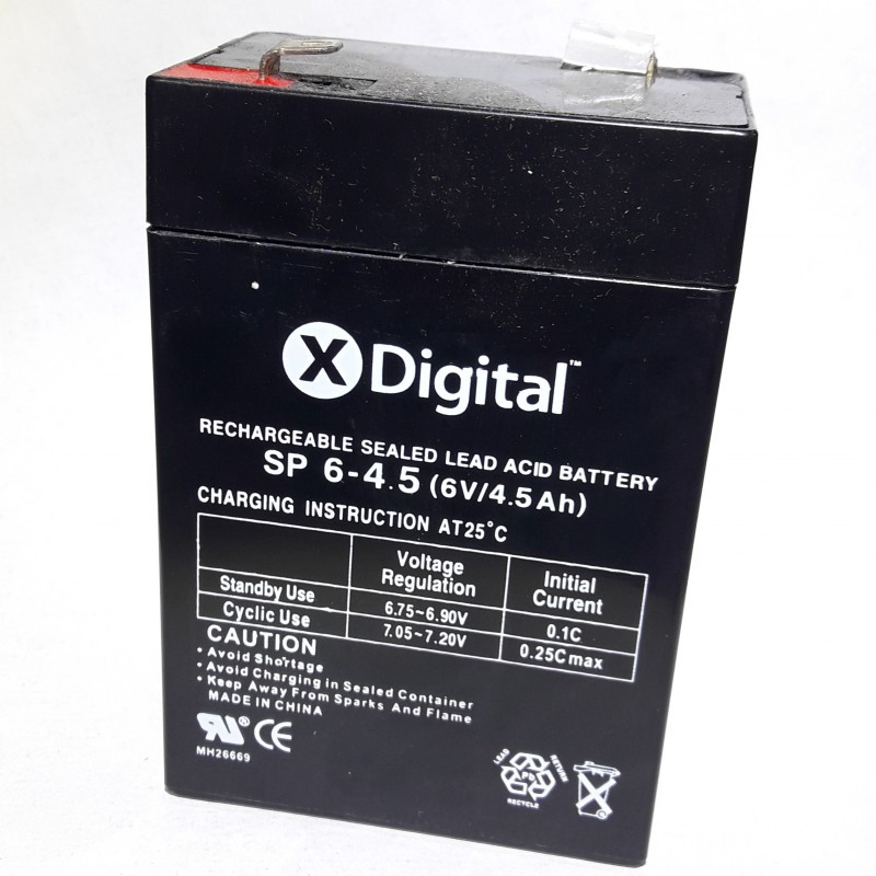 Аккумулятор 6v 4.5Ah X-DIGITAL SP 6-4.5
