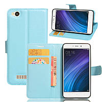 Чехол Xiaomi Redmi 4A книжка PU-Кожа голубой