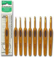 Крючок для вязания алюминиевый с ручкой, Clover,размер 5,5
