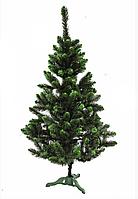 Искусственная зеленая елка Швейцарская салатовый кончик с шишками 2,2м, фото 1