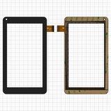 """Сенсорний екран для планшету Tablet PC 7"""", Assistant AP-714 Fan, тачскрін 106x186mm 30pin, ємнісний, чорний, SCF0112-A, DH-0720A1-FPC23-02"""