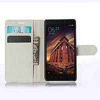 Чехол Xiaomi Redmi 3 книжка PU-Кожа белый