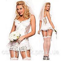 """Игровой пеньюар-платье """"Невеста"""". Размер универсальный."""