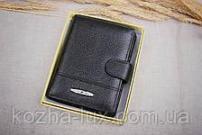 Портмоне мужское с отделом для паспорта, натуральная кожа, фото 2