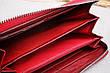 Кошелёк красный на молнии, натуральная кожа, фото 3