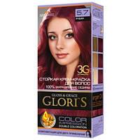 Краска для волос Gloris 5.7 Рубин, 1 окрашивание