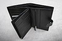 Мужское кожаное портмоне с отделом для документов, Турция