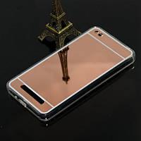 Чехол Xiaomi Redmi 4A силикон TPU зеркальный розовое золото