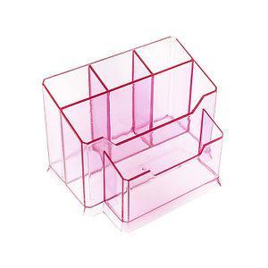 Подставка для пилочек кисточек 5 отделений ( розовый)